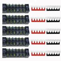 15x 6Points Auto Marine Power Distribution Bus Bar Terminal Block Kit 600V PGJ