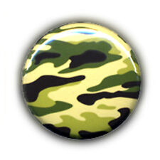 Badge CAMOUFLAGE camo vert kaki military army pop rock punk ska button Ø25mm .