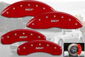 2009-2011 Audi A6 Base Front + Rear Red MGP Brake Disc Caliper Covers 4pc Set
