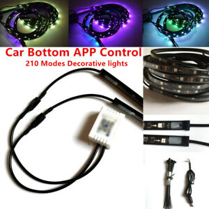 Car SUV APP Voice Control Bottom Atmosphere Light Color Chassis Lamp Decorate
