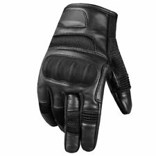 Jackets 4 Bikes Men's Goat Leather Tactical Motorcycle Airsoft Touch Gloves