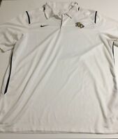 Nike Dri-Fit Men's Size XL White UCF Knights Player Golf Short Sleeve Polo Shirt