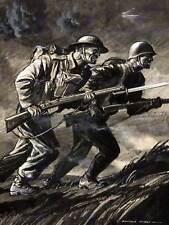 Peinture portrait de la propagande britannique russe guerre wwii fine art print CC1366