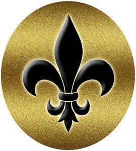 Silicone Trivet -  Fleur de Lis Design - Black & Gold -  Stylish & Functional