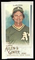 2020 Topps Allen and Ginter Base Mini #319 Tony La Russa - Oakland Athletics