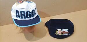 VINTAGE TORONTO ARGONAUTS HAT LOT PAPERBOY PAINTER CAP MILLER LITE CFL SNAPBACK