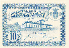 10 CENTAVOS AUNC EMERGENCY BANKNOTE FROM PORTUGAL/SAN JOSE HOSPITAL 1920 PICK-NL