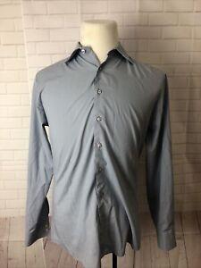 Thomas Pink Men's Gray Solid Cotton Dress Shirt 15.5 31/32 $125