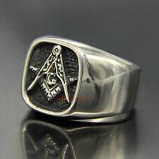Signet Ring Gold Ring Man Freemasonry Bracket Compass G Stainless Steel All Gold