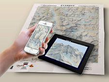 Mapa del Monte Everest,  Mount Everest Map POSTER
