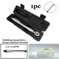 1/4 Inch 5-25NM Multifunctional Drive Torque Ratchet Wrench Adjust Torque Wrench