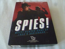 BOARD GAME SPI TSR INC VINTAGE SPIES ESPIONAGE 1984 N0 3014 COMPLETE IN BOX CIB