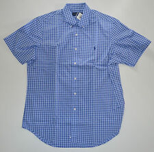 NWT Men's Ralph Lauren Casual Short-Sleeve  Casual Shirt Blue White L, Large