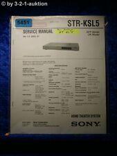 Sony Service Manual STR KSL5 Home Theater Sytem (#5451)