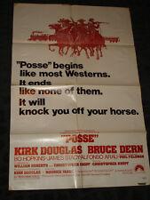 Posse folded movie poster - 1975 Western Bruce Dern Kirk Douglas
