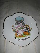 Zierteller aus Limoges Porzellan, Frankreich Vintage 70 Jahre  French Porcelain