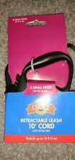 Grreat Choice Retractable Leash Cord 10 ft XS Dogs up to 18 lbs Black