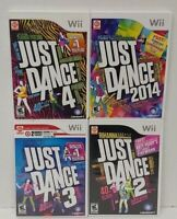 Just Dance 2014 2 3 4 Dancing Games Nintendo Wii Game 1-4 players Works Complete
