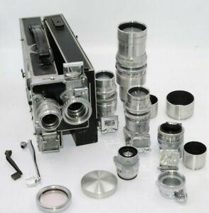 Cine-Kodak Special 16mm Film Movie Camera W/ 6 Lenses & Accessories