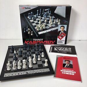1990 Saitek MK 12 Electronic Chess Trainer With Kasparov Training Program Boxed