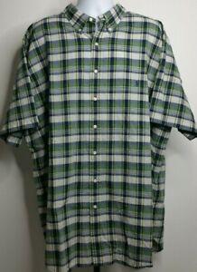 Ralph Lauren Authentic Bleeding Madras Multicolor Plaid Shirt Size 3XLT D489
