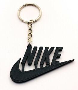 Nike Sports Logo Swoosh Keyring Keychain Bag Clip Charm Gift Keyfob Colours