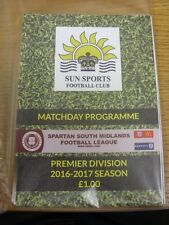 02/01/2017 Sun Sports v Berkhamsted  . Thanks for viewing our item, if this item