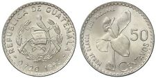 GUATEMALA 50 CENTAVOS 1963 (WHITENUN ORCHID) KM#264 ARGENTO/SILVER #914