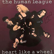 """PHIL OAKEY HAND SIGNED HUMAN LEAGUE 12"""" VINYL HEART LIKE A WHEEL."""