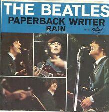 "The Beatles-Paperback Writer/Rain-w/PS-45 RPM-7""-single-rock-vinyl-record"