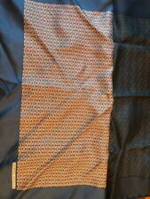 "2 Hermes Paris Navy blues  Geometric Men's Silk Pocket Square 16"""