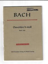 Bach * Ouvertüre h-moll BWV 1067 * Studien-Partitur