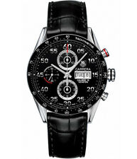 AUTHENTIC TAG HEUER CARRERA CV2A10.FC6235 DAY DATE AUTOMATIC CHRONOGRAPH WATCH