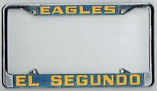 N.O.S. RARE El Segundo California High School Eagles Vintage License Plate Frame