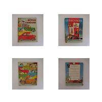 2 Libros Coche Camión Ciencias Niño Chica Vintage 1952-1956