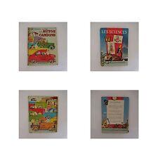 2 livres AUTOS CAMIONS SCIENCES GARCONS FILLES vintage 1952-1956