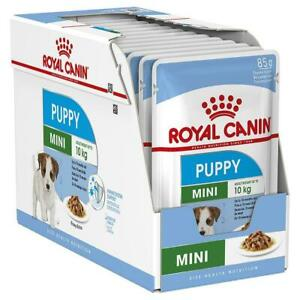 12 x Royal Canin Mini Puppy Wet Dog Food in Gravy - 10 Months/10kg Adult - 85g