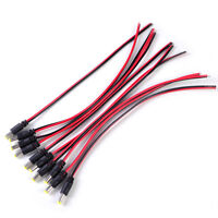 10pcs 12V DC Power PSU Pigtail Male 5.5*2.1mm Cable Plug Wire For CCTV Security
