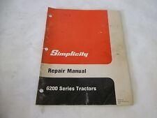 Simplicity 6200 Series Tractors Repair Manual