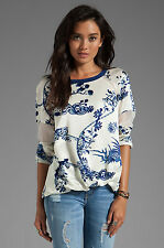 ELIZABETH AND JAMES Nostrand Print Silk Blouse Top Size XS NWT $345