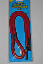 """Red Sunglasses Floating Neck Cord Strap Eyeglasses Lanyard Red 20.5"""" Long"""