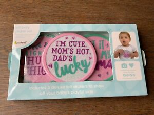 Pearhead Baby Girl Felt Belly Sticker Set Of 3 New In Package