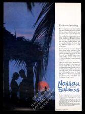 1963 Nassau Bahamas romantic sunset evening photo vintage print ad