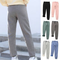 Winter Women Fleece Lined Gym Sweatpants Workout Trousers Thick Warm Sport Pants