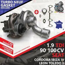 Turbo NEUF SEAT IBIZA IV 1.9 TDI -74 Kw 100 Cv 713672-6 AVEC JOINTS GASKET
