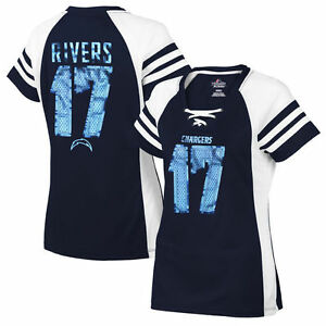 Majestic Los Angeles Chargers Philip Rivers Women's Draft Him IV Jersey Shirt