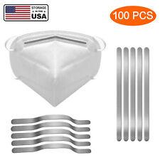 100pcs Aluminum Strip Adhesive Nose Bridge Bracket DIY Strip Nose Wires Bendable