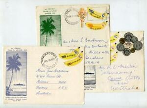 Tonga 3 x Tin Can Covers. Fronts and backs shown