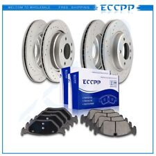 For E46 BMW 325i 325Ci 328Ci Front Rear best Slotted Brake Rotors Ceramic Pad