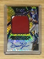 2019 Select Daniel Jones Prime Selections GOLD Refractor Rookie Patch Auto /10
